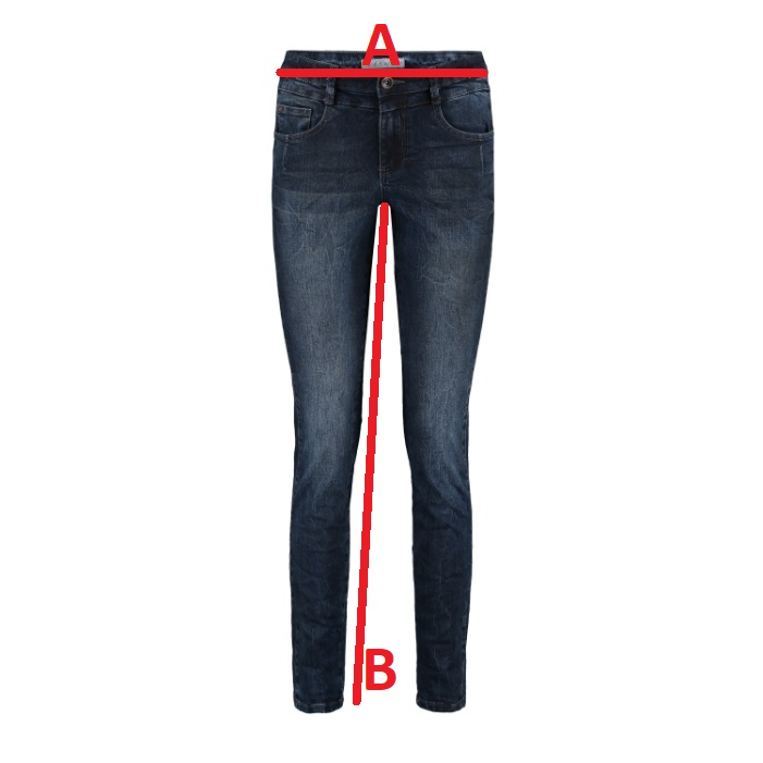 Red-Button-Jeans-Jimmy-Black Jeansmaat