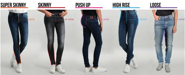 Verschillende soorten jeans