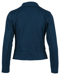 Enjoy biker jasje suedine Blu