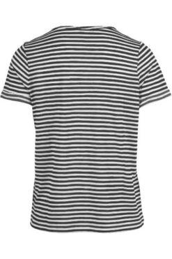 Enjoy Korte t-shirt met strepen Zwart