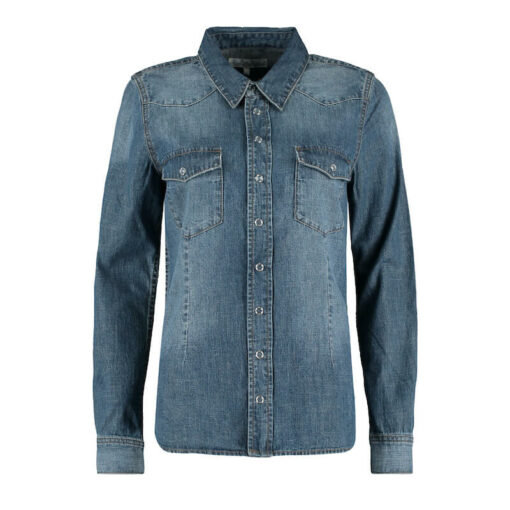 Red Button Jeans Boby Blouse Blue Denim