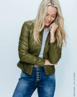 Red Button Jeans Sheena Jacket PU Olive