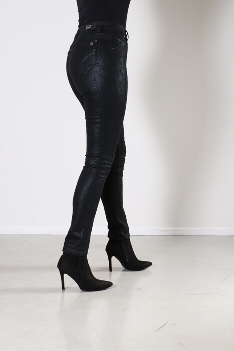 New Star Jeans Geneva Snake print Black