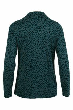 Enjoy blouse kraag lange mouw aop Petrol 470284