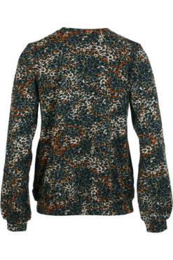Enjoy sweater v-hals aop baby futter Petrol 172680(1)