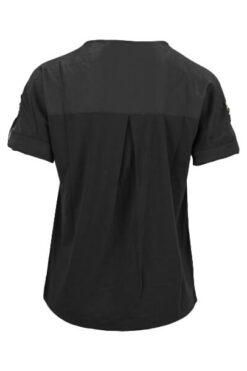 Enjoy t-shirt korte mouw 2 materialen Zwart 176741