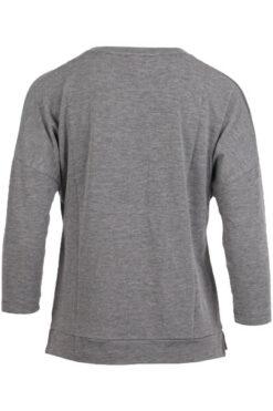 Enjoy t-shirt lange mouw strass Grijs 186879