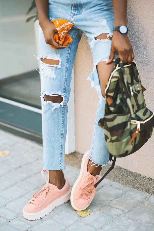 Spijkerbroek bleken