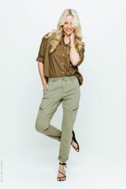 Red Button Jeans Cargo Jog Khaki