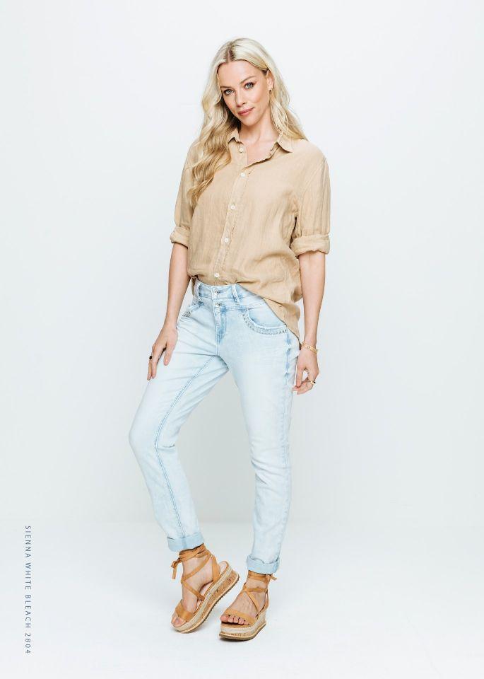 Red Button Jeans Sienna White Bleach & Rivets