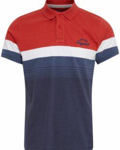 Blend Poloshirt Blue Red 20712420