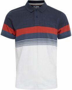 Blend Poloshirt Blue White 20712420